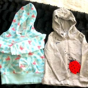 TWO 24 month hoodies